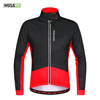 Cycling Jacket Winter Fleece Thermal Windproof Water Repellent Long Sleeve