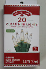 20 Count Clear Mini Christmas / Wedding / Craft Light on Green Wire