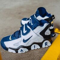 Nike Air Barrage Mid Navy And Gold Sneakers Men's Lifestyle Comfy Shoes