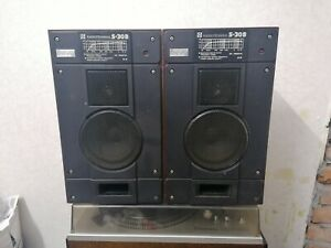 Radiotehnika S-30 vintage speakers USSR CCCP made collection item working