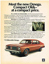 Vintage 1973 Magazine Ad Oldsmobile Omega Good Stuff Standard / True Cigarettes
