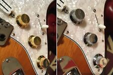 Gold Silver Strat Stratocaster Volume and Tone Knobs Set of 3 for Fender Squier