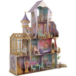 KidKraft Enchanted Greenhouse Castle Kids Girls Doll House Wooden Toys Gift NEW