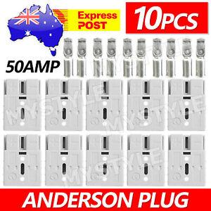 10X Anderson Style Plug Exterior DC Solar Caravan Power 50 AMP 12-24V Connectors