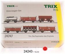 Trix 24243   Güterwagen-Set. 6-teilig  Trix HO  Neu in OVP