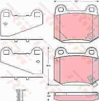 TRW REAR BRAKE PADS FOR NISSAN SKYLINE R34 BREMBO CALIPER