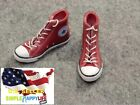 1/6 female sneakers red causal Chuck boots for 12\
