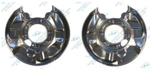For Mercedes C-Class CLK SLK 270 CDI Rear Brake Disc Dust Cover Back Plate Pair