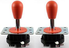 2 x Ultimarc MagStick Bat Top Arcade Joysticks, 4/8 Way (Rot) - MAME, JAMMA