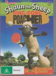 SHAUN The Sheep - Ping-Pong Poacher ABC DVD - 8 Episodes NEW & SEALED Tracked