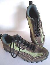 Traverse Cycling Shoes Shimano Cleats 38 Green Brown