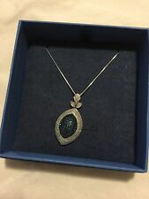 "Blue & White Diamond Necklace w/ 18"" Chain"