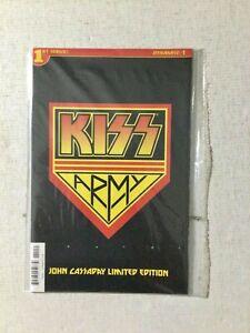 Kiss #1 John Cassaday Kiss Army Polybagged Variant Dynamite 2016