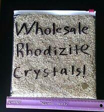 RHODIZITE CRYSTALS! 500 GRAMS of AAA Grade Wholesale Rhodizite! Mine Direct!
