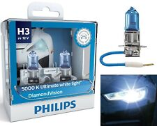 Philips Diamond Vision 5000K White H3 55W Two Bulbs Fog Light Halogen Upgrade OE