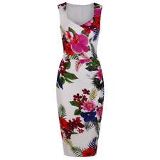 Robe droite multicolore en polyester pour femme