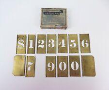Vintage Reeses Brass Adjustable Interlocking Number Stencils Incomplete IOB
