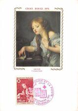 France (Croix rouge GREUZE l'oiseau mort) 1971  carte premier jour