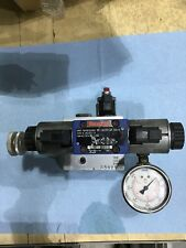 Hydraulic Solenoid Semi Truck Tag Axle Valve Block Pressure Gauge 12 Volt Dc