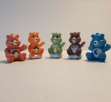 Care Bears Lot of 5 Birthday Cake Topper Figures Clouds Cheer Wish Share Bedtime