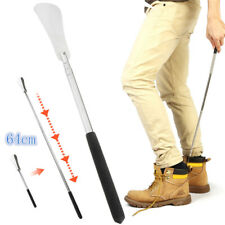 """25"""" Stretchable Shoe Horns Silicone Handle Stick Stainless Steel Adjustable Hot"""