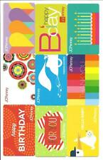 Lot (9) J C Penney Gift Cards No $ Value Collectible JC Penney