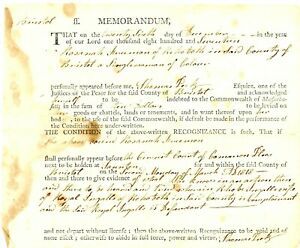 1817Early Am Doc> ROSANAH FREEMAN REHOBOTH A WOMAN OF COLOR WITNESS TO DISPUTE