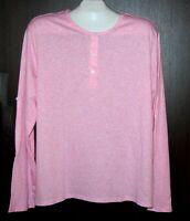 H&M Men's Light Pink Half Button Cotton Sweater Size XL  NEW