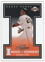 2003 Playoff Prestige Inside the Numbers /2002 Pick Any Complete Your Set