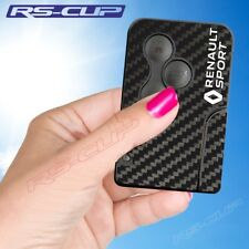 0021 Sticker carte clé logo blanc RENAULT SPORT aufkleber Clio 3 Megane 2 Scenic