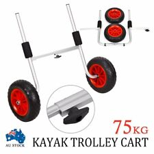 AU New Kayak Trolley Canoe Aluminium Collapsible Wheel Cart Boat Carrier Ski
