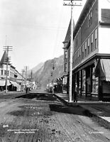 "Early 1900's Broadway, Skagway, Alaska Vintage Photograph 8.5"" x 11"" Reprint"