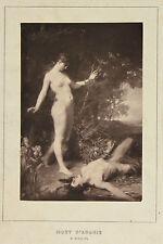 Mort d'Adonis et La Pauvrette 2 Photoglypties de Goupil d'après tableaux, c 1880
