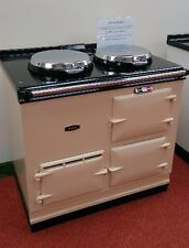 Aga Cooker - Fully Refurbished Two Oven 13 amp Aga in Cream with Chrome Lids