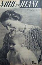 LE PRINCE CHARLES BEBE en COUVERTURE de NOIR et BLANC No 286 de 1950 ANGLETERRE