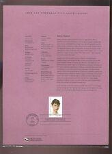 #3786 37c Audrey Hepburn USPS #0319 Souvenir Page