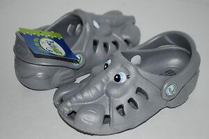 NEW POLLIWALKS ETHAN THE ELEPHANT grey shoes clogs 3D sandals 7 8 9 10 11 12 kid