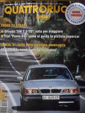 Quattroruote 468 1994 - Test su strada Citroen XM 2.5 TD - Fiat Punto GT   [Q35]