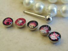 """316L Surgical Steel 14 Gauge 5/8"""" (5 Piece) Logo Ball Package Tongue Ring"""