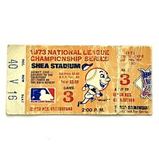 1973 REDS AT NEW YORK METS GAME 3 NLCS TICKET STUB STAUB 2 HR METS WIN 9-2