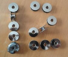 1 Bobbin Case +12 Industrial Sew. Machine Bobbins for Brother Juki Singer Wimsew