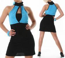 Sexy MISS trendy da donna Pencil Mini Abito Stretch Dress Nero Blu 34/36/38 NUOVO
