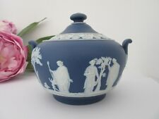 Edwardian Wedgwood Jasper Covered Sugar Box or Urn