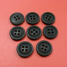 200 Wholesale Lot  Pants Craft Clothing Sewing Buttons 15mm Dull Mat Black  M213