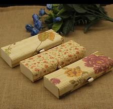 2 X jewelry box organizer bamboo woven makeup box glass stationary box multi use