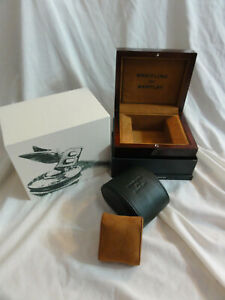 Breitling for Bentley Presentation / Storage Box Laquered Wood with Outer Box