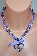 Modeschmuck-Halsketten & -Anhänger im Collier-Stil aus Strass mit Herz-Schliff