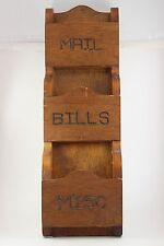 Vintage Antique Wood Wall Hanging Mail Sorter Hand Made Folk Art