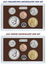 2020 P+D Mint 10 Coin UNCIRCULATED Set ~ Half Dollar, Dollar, Dime, Nickel, Cent