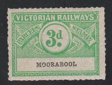 Australia Victoria Railways Stamp 1-15a- mnh gum Moorabool 3d- Scarce as MNH